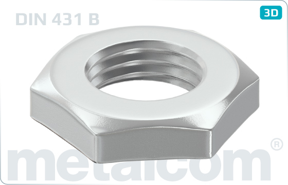 Hexagon nuts pipe nuts - DIN 431 B