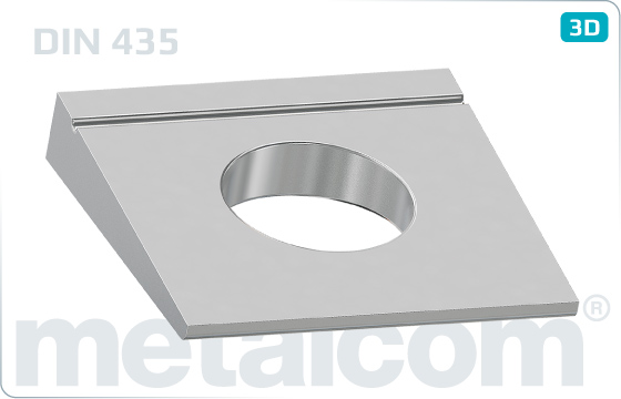 Square washers for I-sections (14%) - DIN 435