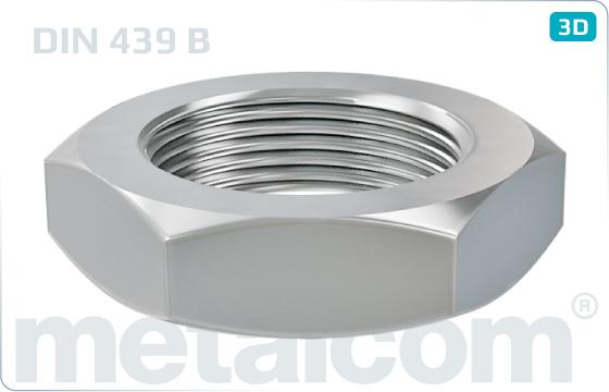 Hexagon nuts thin - DIN 439 B