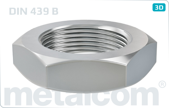Hexagon nuts thin with metric fine thread - DIN 439