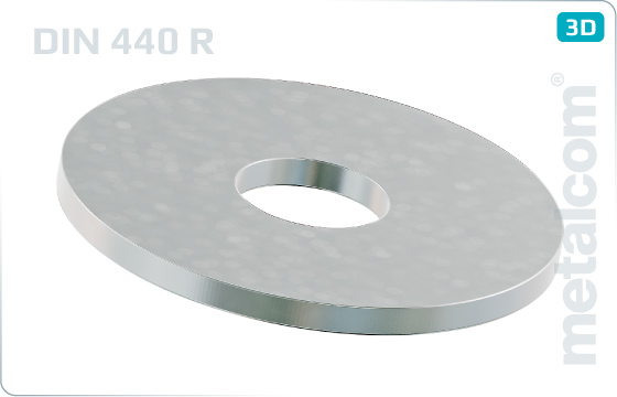 Plain washers round for wood constructions - DIN 440 R