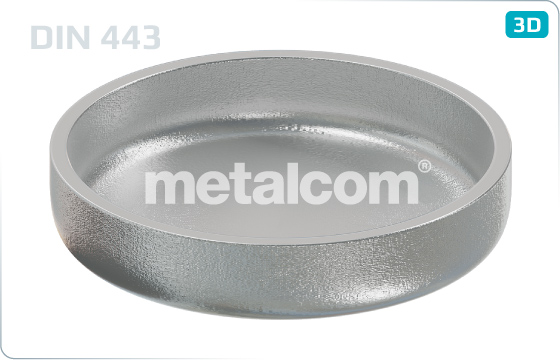 Sealing washers caps, push-in type (conical) - DIN 443