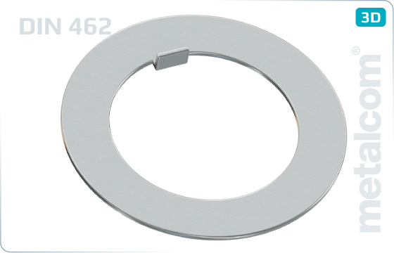 Plain washers with internal tab for nuts DIN 1804 - DIN 462