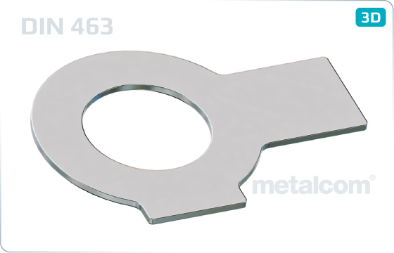 Plain washers with 2 tabs - DIN 463