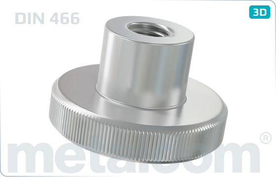 Miscellaneous nuts knurled with collar - DIN 466