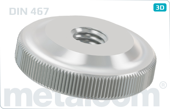 Miscellaneous nuts knurled - DIN 467