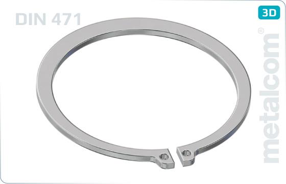 Pierścienie zabezpieczające do wałów - DIN 471