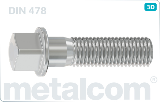 Square head bolts with collar - DIN 478