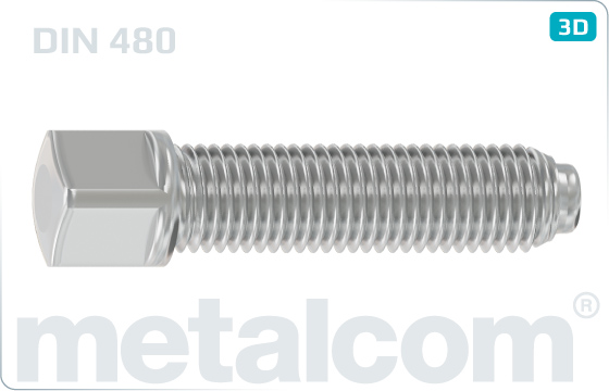Square head bolts with collar, half dog point and rounded end - DIN 480