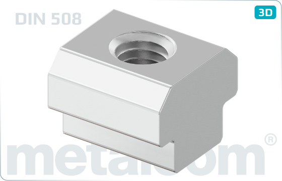 Miscellaneous nuts for T-slots - DIN 508