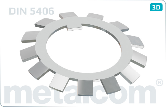 Pierścienie zabezpieczające do nakrętek KM z nacięciem (DIN 981) - DIN 5406