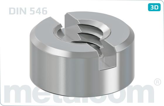 Nakrętki z rowkami cylindryczne z 2 nacięciami - DIN 546