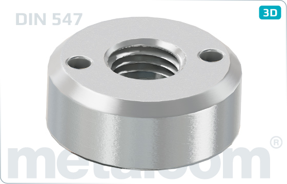 Hole nuts with drilled holes in one face - DIN 547