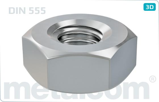 Sechskantmuttern Produktklasse C - DIN 555