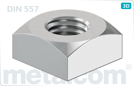 Square nuts high - DIN 557