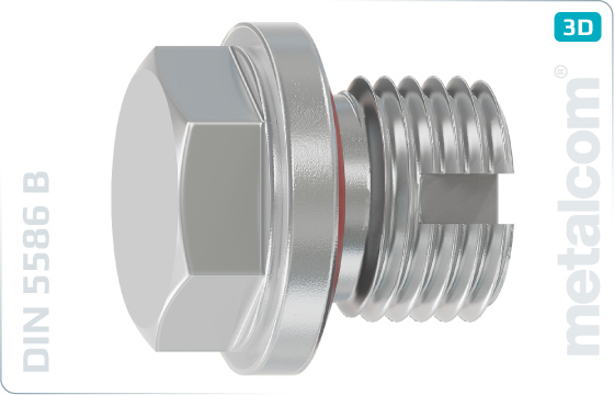 Hexagon locking screws with collar and vent - DIN 5586 B