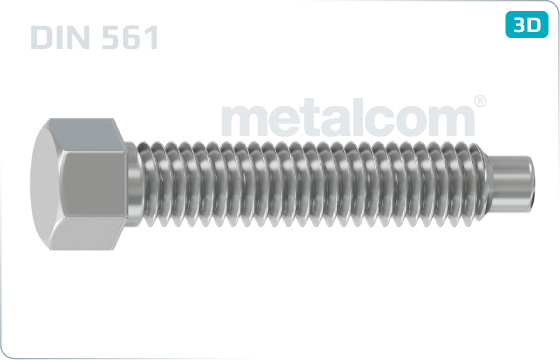 Hexagon set screws with full dog point - DIN 561