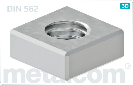 Square nuts without bevel - DIN 562