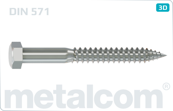 Wood screws heaxagon head - DIN 571