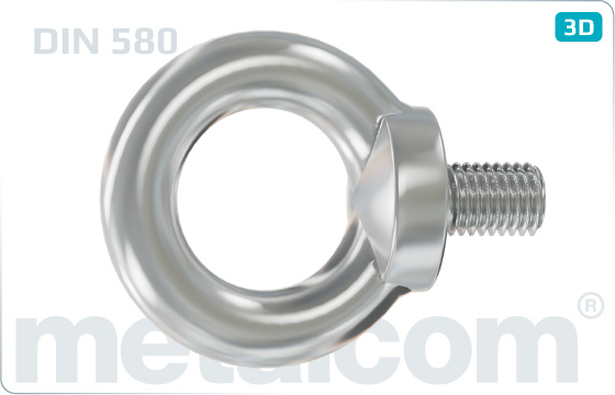 Eye screws lifting bolts - DIN 580