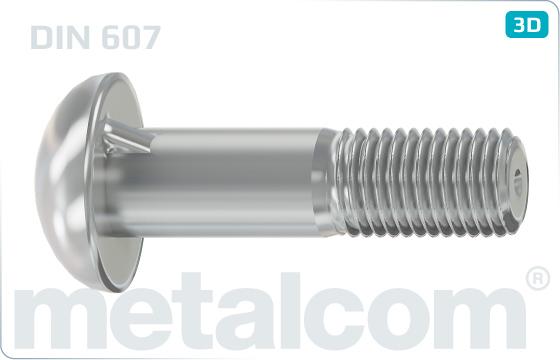 Nib or square neck bolts cup head nib bolts - DIN 607
