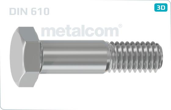 Sechskantschrauben Paßschrauben mit kurzem Gewindezapfen - DIN 610