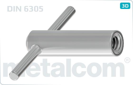Nakrętki z rękojeścią nieruchome - DIN 6305