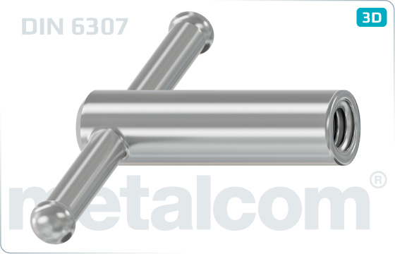 Handle nuts Tommy nuts with movable clamping bolt - DIN 6307