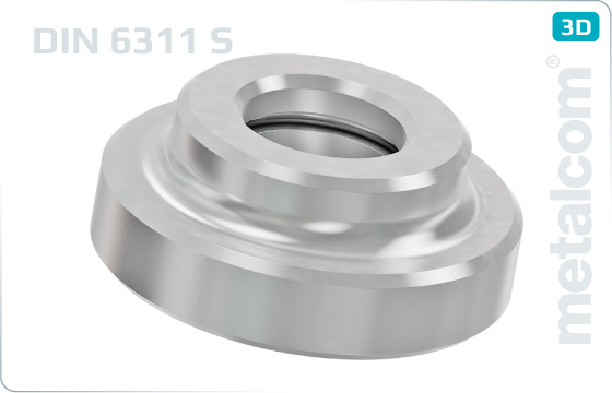 Podkładki płaskie dociskające - DIN 6311 S