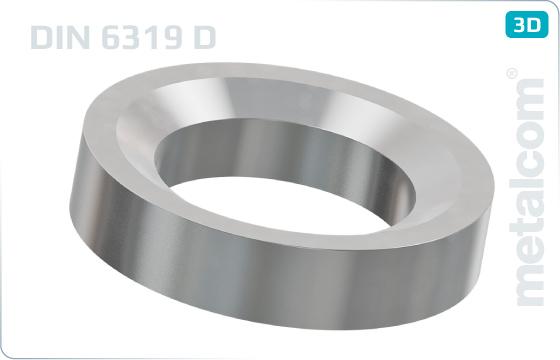 Podložky ploché kuželové - DIN 6319 D
