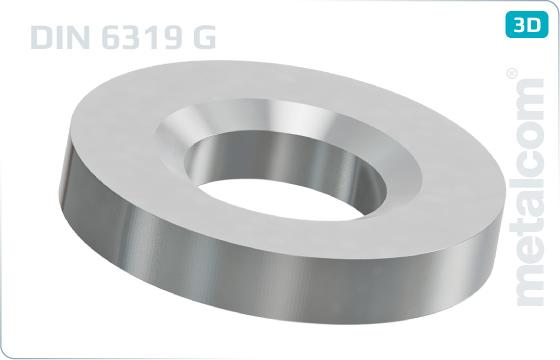 Podložky ploché kuželové - DIN 6319 G