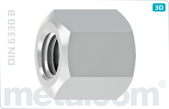 Hexagon nuts height of 1,5d - DIN 6330 B