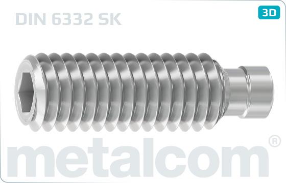 Skrutky nastavovacie s vnútorným šesťhranom a prítlačným čapom - DIN 6332 SK