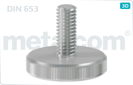 Knurled thumb screws thin type - DIN 653