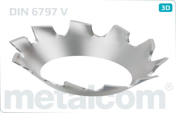 Podložky ozubené zápustné - DIN 6797 V