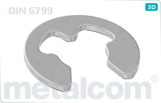 Lock washers for shafts (E-rings) - DIN 6799