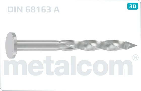 Flat head nails screwed with bit point - DIN 68163