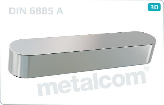 Pera těsná - DIN 6885 A