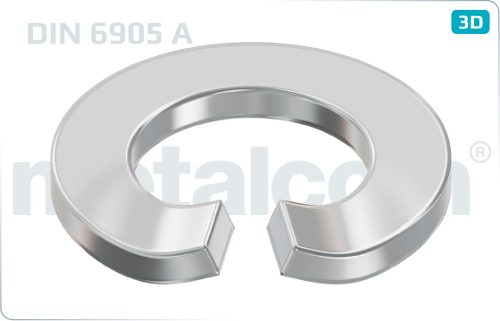 Spring washers curved for screw and washer assemblies - DIN 6905