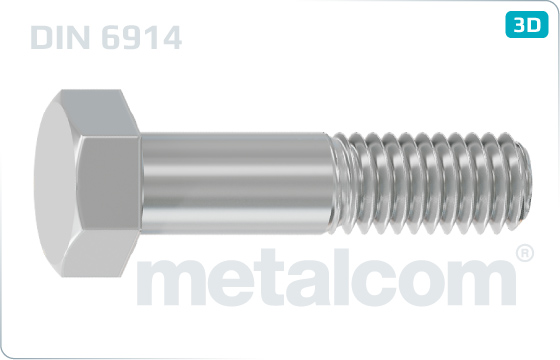 Hexagon head bolts with large head - DIN 6914
