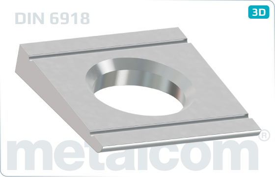 Podložky čtyřhranné pro U konstrukce HV - DIN 6918