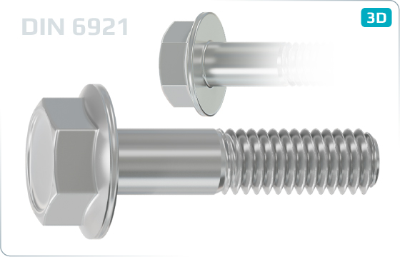 Hexagon flange bolts - DIN 6921