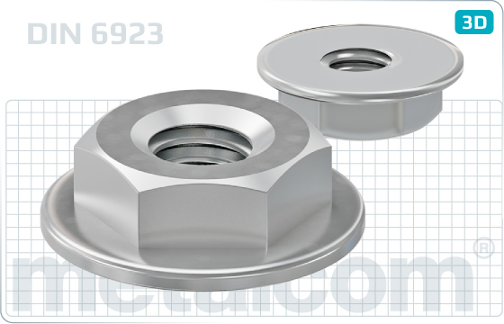 Hexagon nuts flange - DIN 6923