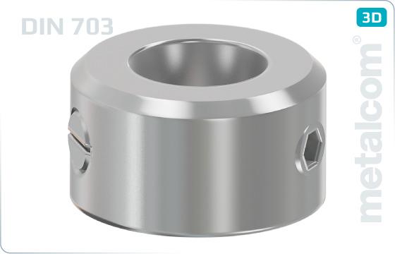 Podložky ploché poistné krúžky s nastavovaciou skrutkou (ťažký druh) - DIN 703