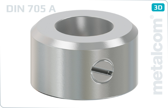 Podložky ploché stavěcí kroužky se stavěcím šroubem (lehký druh) - DIN 705 A