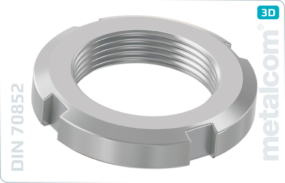 Slotted nuts round for hook spanner - DIN 70852