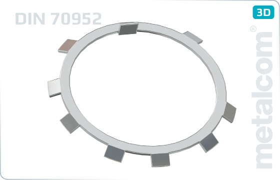 Lock washers for locknuts DIN 70852 - DIN 70952
