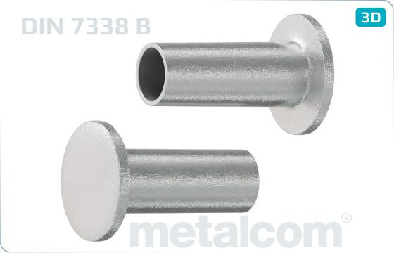 Nity rúrkové poloduté - DIN 7338 B