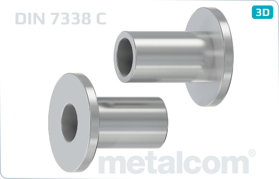 Tubular rivets drawn for brake and clutch lining - DIN 7338 C