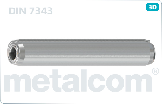 Kołki sprężyste spiralowe regulowane - DIN 7343